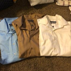 Three Geoffrey Bean dress shirts